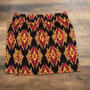 Kenzie Pieces brown/red mini skirt